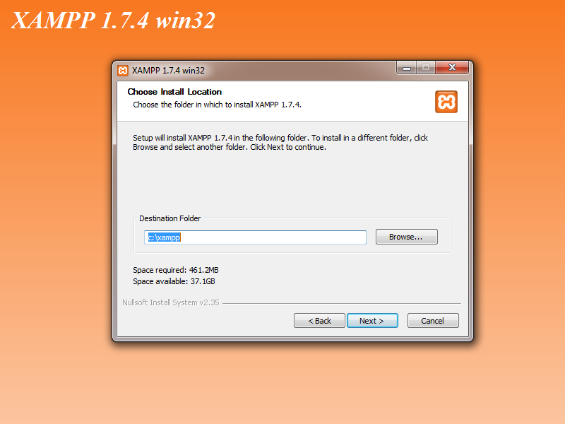 xampp web server 1.7.4