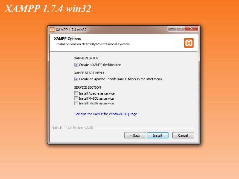 XAMPP 1 7 4 Installation on Windows Workstation – takistmr com